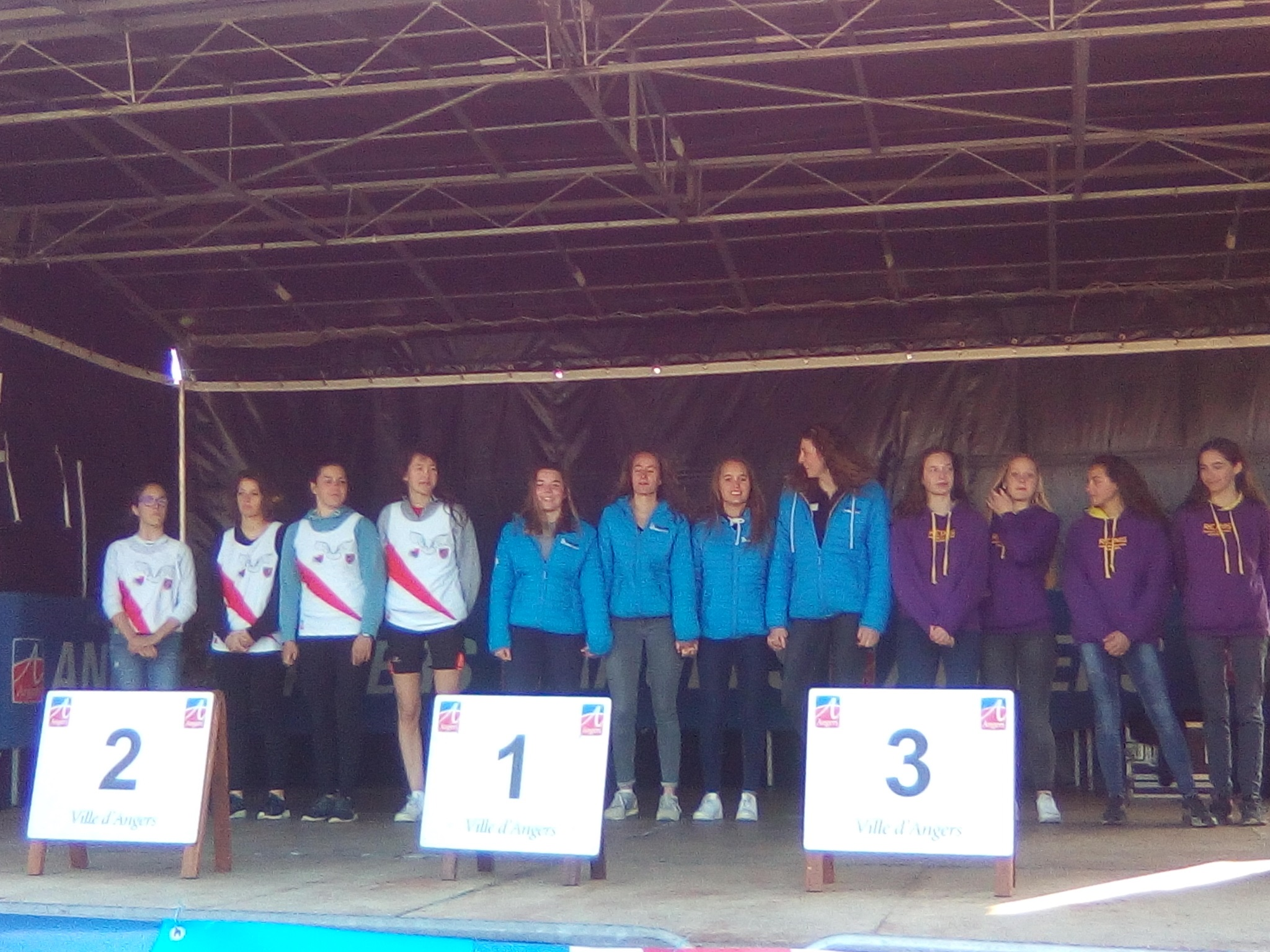 Podium K4 junior 2